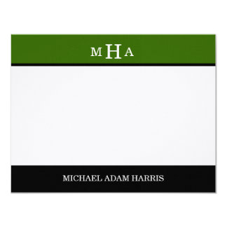 Simply Modern Graduation Thank You Cards (Green) Custom Invites