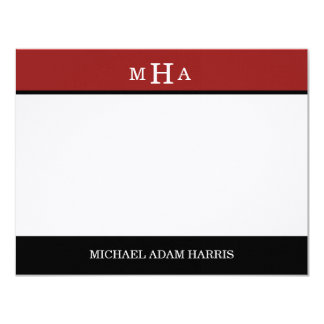 Simply Modern Graduation Thank You Cards (Red)