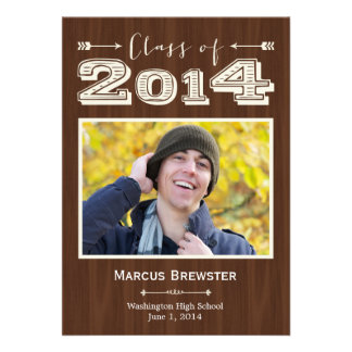 Simply Natural Graduation Invitation Announcements