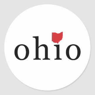 Simply Ohio Round Sticker