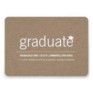 Simply Paper Modern Graduate Graduation Photo Invite
