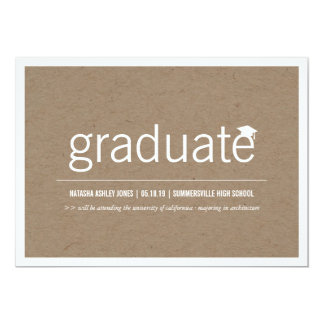 Simply Paper Modern Graduate Graduation Photo Announcements