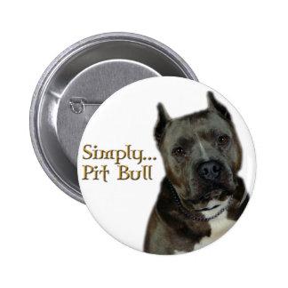 Simply PitBull 6 Cm Round Badge