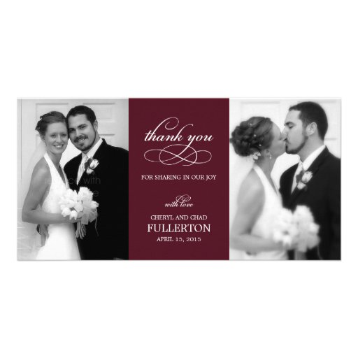 Simply Pretty Wedding Thank You Photo Cards Photo Greeting Card