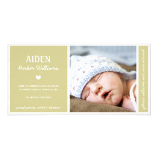 SIMPLY PURE | BABY BIRTH ANNOUNCEMENT CARD