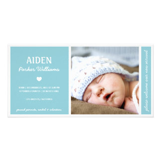 SIMPLY PURE | BABY BOY BIRTH ANNOUNCEMENT PHOTO CARD TEMPLATE