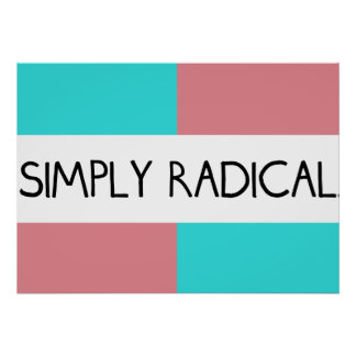 Simply Radical Flag Poster 28x20