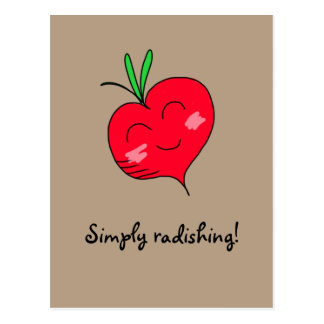 """Simply Radishing!"" Postcard"