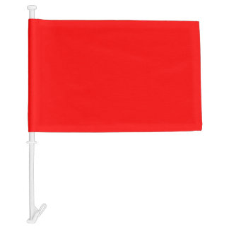 Simply Red Solid Color Car Flag
