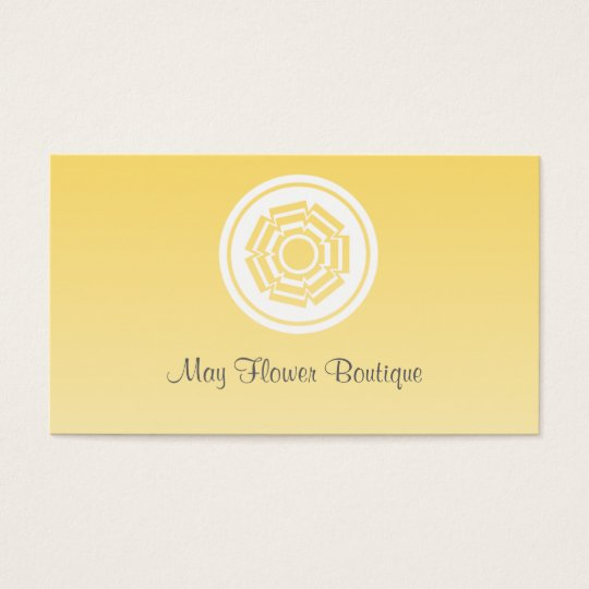 Simply Retro Flower Business Card, Yellow Business Card