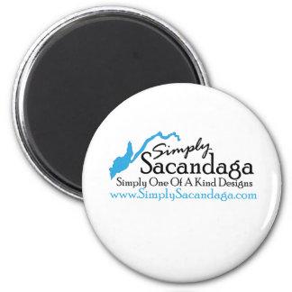 Simply Sacandaga Logo 6 Cm Round Magnet