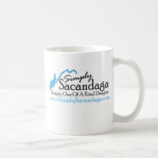 Simply Sacandaga Logo Basic White Mug