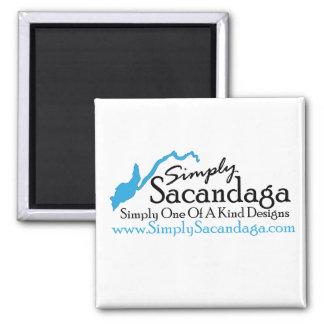 Simply Sacandaga Logo Square Magnet