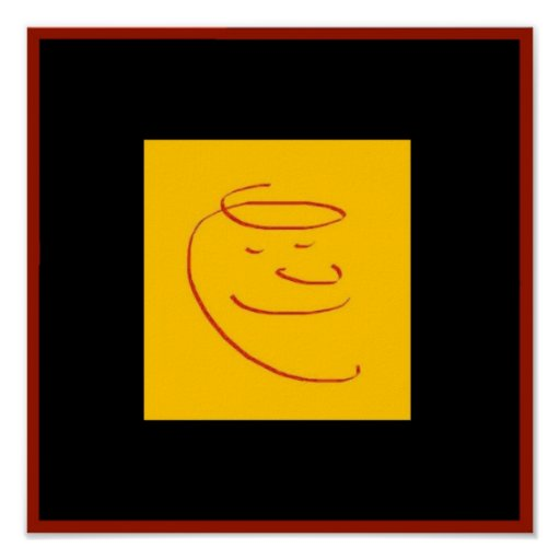 """Simply Satisfied 12"""" x 12"""" Poster"""