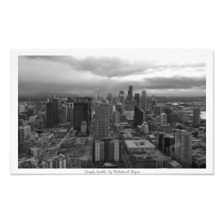 """Simply Seattle"" Black and White Photo Art"