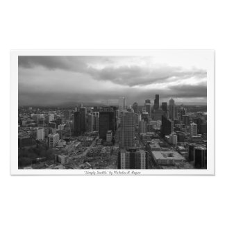 """""""Simply Seattle"""" Black and White Photo Print"""