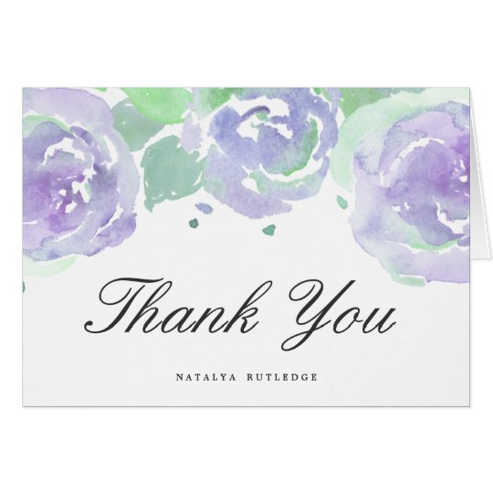 Simply Serene Personalised Thank You Note Card