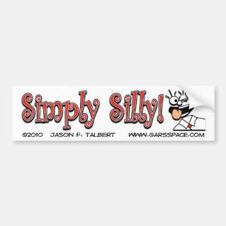 Simply Silly Bumper Sticker