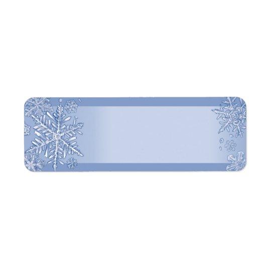 Simply Snowflakes Blank Return Address Labels