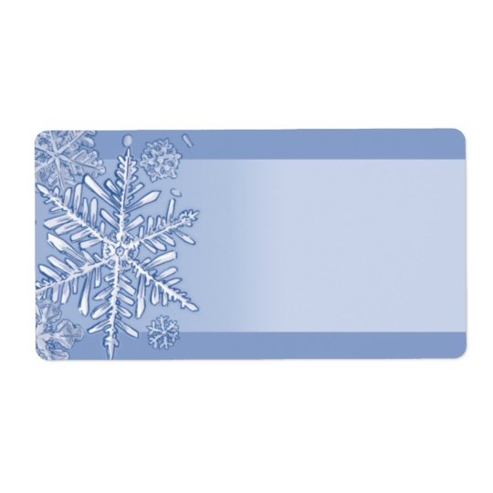 Simply Snowflakes Blank Shipping Labels