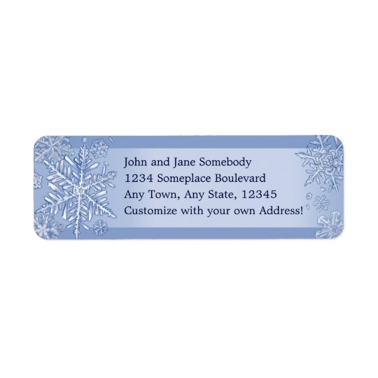 Simply Snowflakes Return Address Labels
