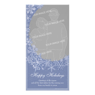 Simply Snowflakes Vertical Photo Card Option 2