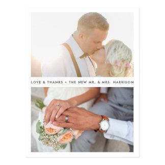 Simply Stated | Wedding Photo Thank You Postcard