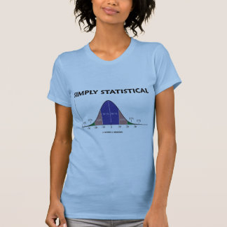 Simply Statistical (Bell Curve Attitude) Tshirts