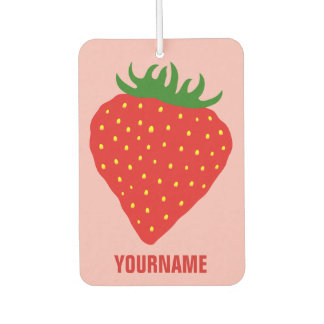 Simply Strawberry custom air freshner Car Air Freshener