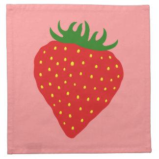 Simply Strawberry custom cloth napkins