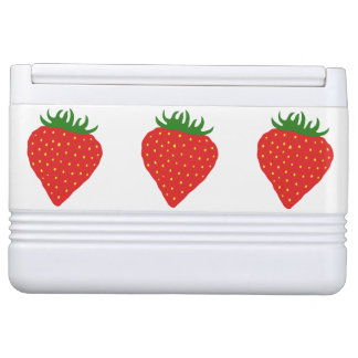 Simply Strawberry custom cooler Igloo Cool Box