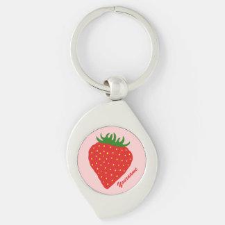 Simply Strawberry custom key chain