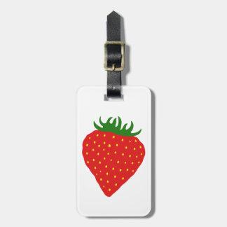 Simply Strawberry custom luggage tag