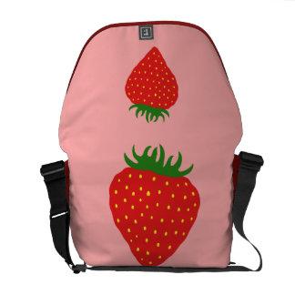 Simply Strawberry custom messenger bag