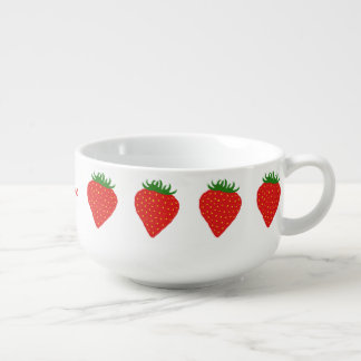 Simply Strawberry custom monogram soup mug