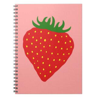 Simply Strawberry custom notebook