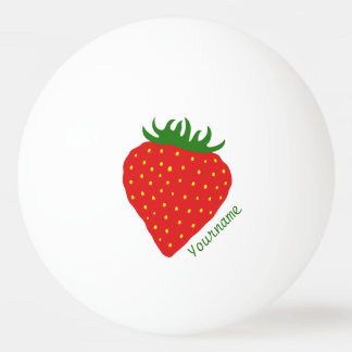 Simply Strawberry custom ping pong balls