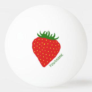 Simply Strawberry custom ping pong balls