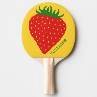 Simply Strawberry custom ping pong paddle