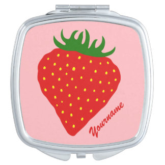 Simply Strawberry custom pocket mirror Compact Mirror