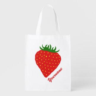 Simply Strawberry custom reusable bag