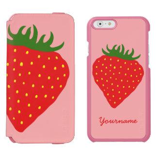 Simply Strawberry custom wallet cases Incipio Watson™ iPhone 6 Wallet Case