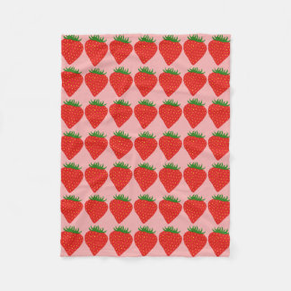 Simply Strawberry fleece blankets