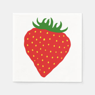 Simply Strawberry paper napkins