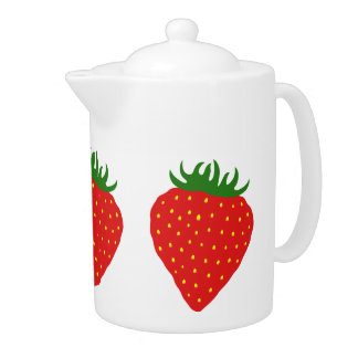 Simply Strawberry teapot