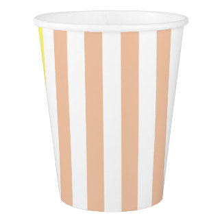 simply stripes mint dusty paper cup