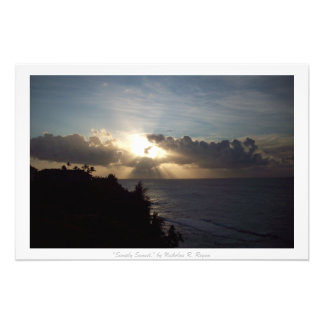 """""""Simply Sunset"""" Kauai Nature Decor Photograph"""