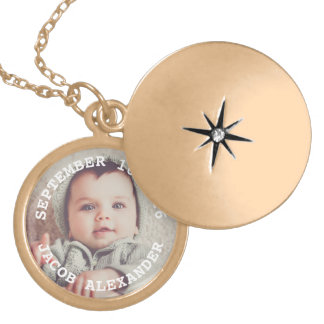 Simply Sweet Baby Photo Locket Necklace