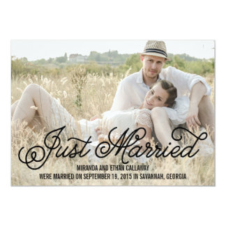 Simply Sweet Wedding Announcement - Black