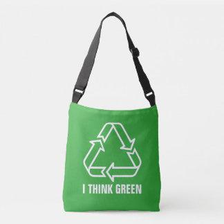 Simply Symbols / Icons - RECYCLING + ideas Crossbody Bag